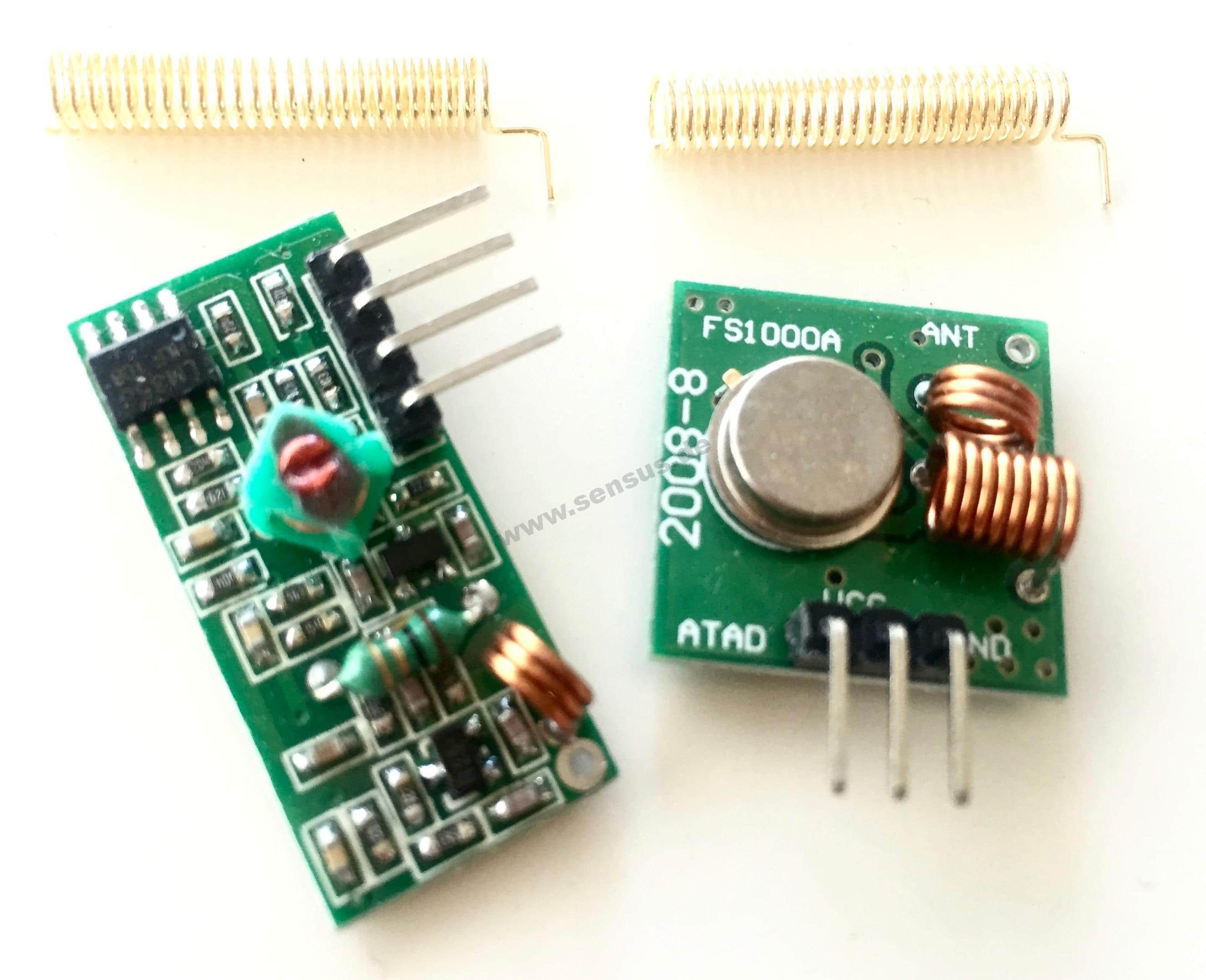 Raspberry Infrarot Entfernungsmesser : 433 mhz sender empfänger komplett set raspberry pi arduino modul