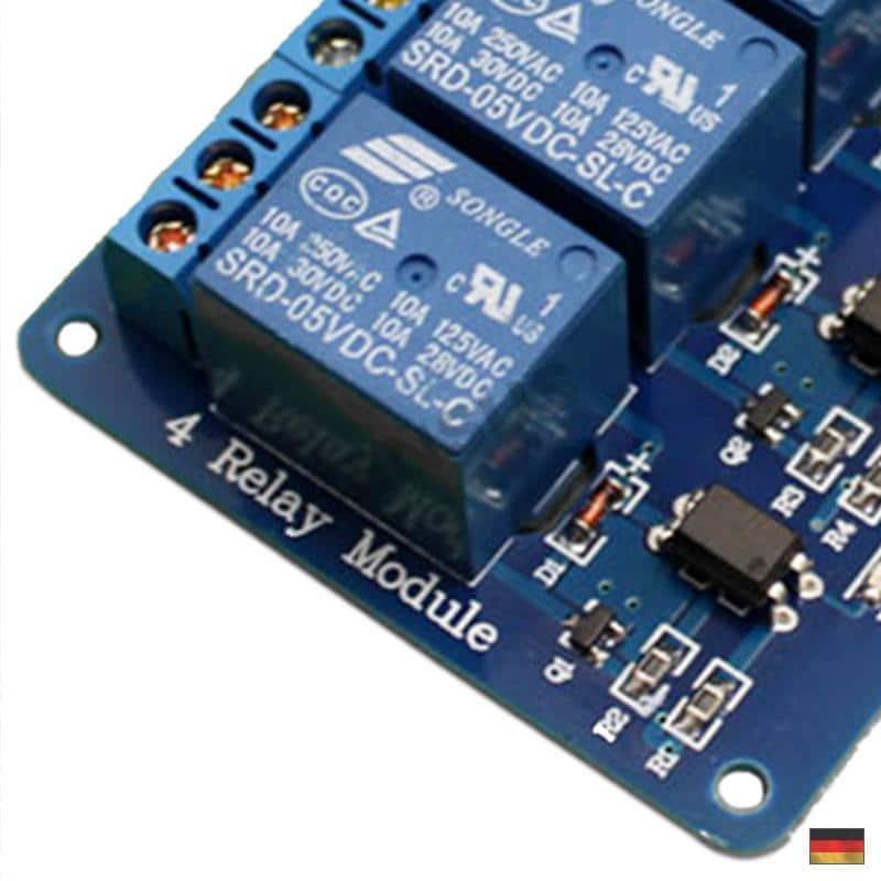 5V 4-Kanal Relais Modul mit Optokoppler für Arduino Raspberry