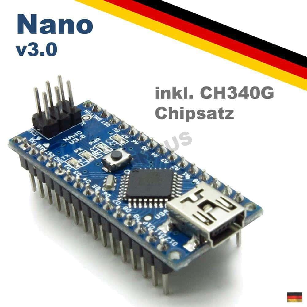 Arduino Nano V3.0 Kompatibel ATmega328 Board CH340 USB Chip