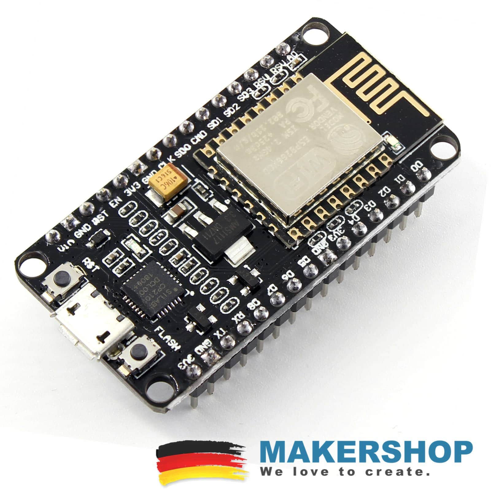 NodeMCU v3 2 - ESP8266 Dev Kit WIFI Lolin Amica CP2102 v2 Arduino IOT