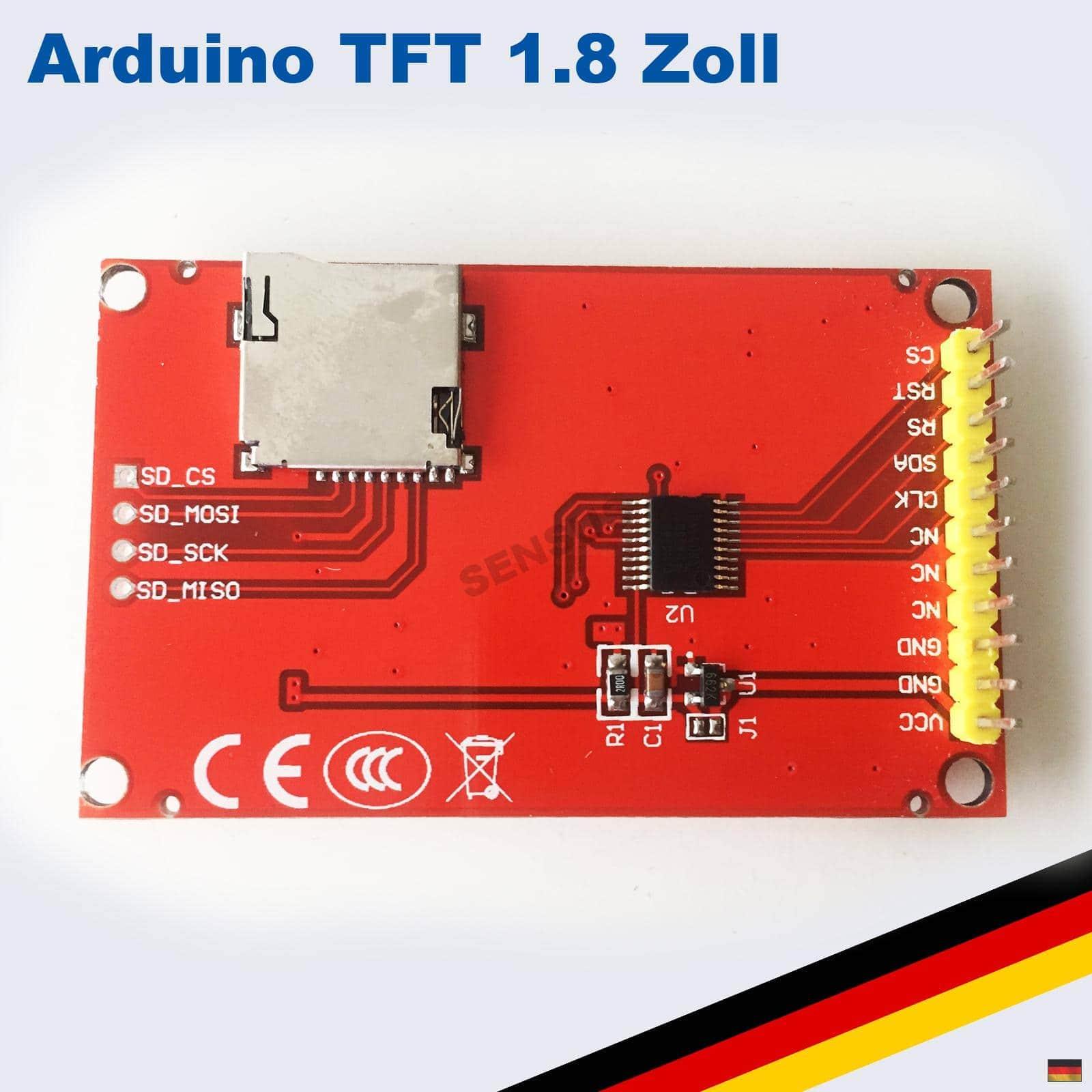 1 8 zoll tft lcd display modul 128x160 spi sd st7735. Black Bedroom Furniture Sets. Home Design Ideas