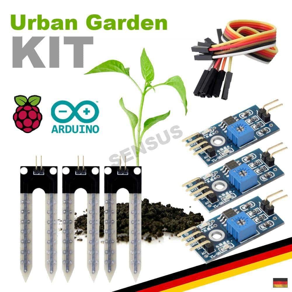 Starter Kit Hygrometer Sensor Set Pflanzen Blumen giessen Arduino Raspberry  Pi