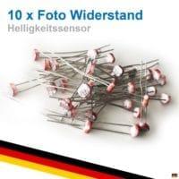 10x Fotowiderstand Foto Widerstand Resistor Photowiderstand LDR 5528 LDR5528 GL5528