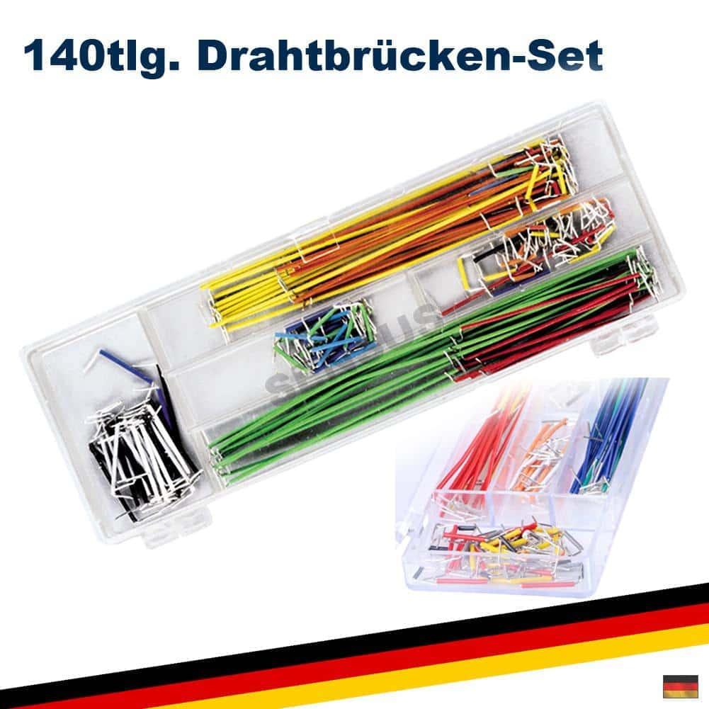 Steckbrücken Drahtbrücken für Laborsteckboards 140 Stück im Set