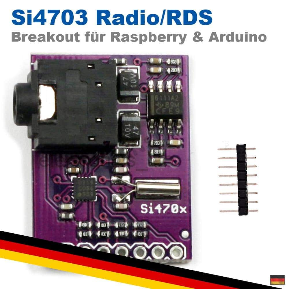 Si4703 Radio FM Tuner Breakout Evaluation RDS RBDS Board