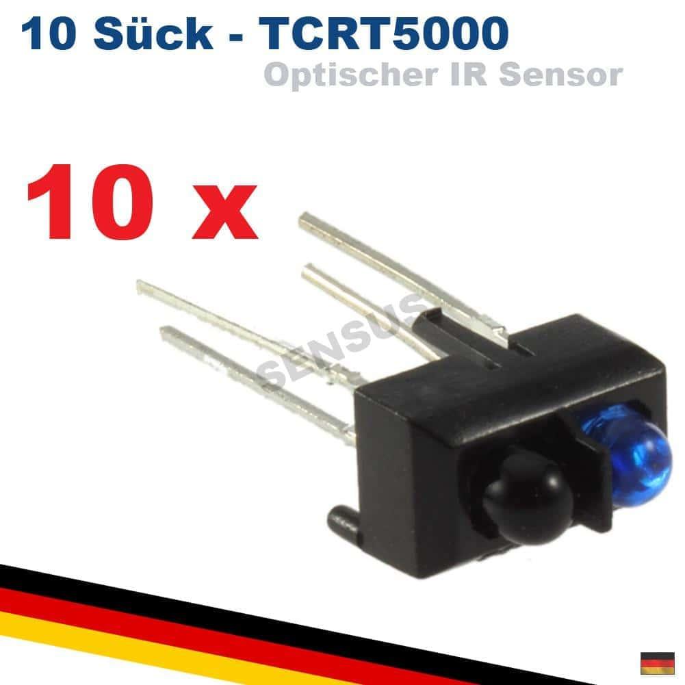 10x TCRT5000 Infrarot Sensor optisch reflektierend Lichtschranke Arduino Raspberry