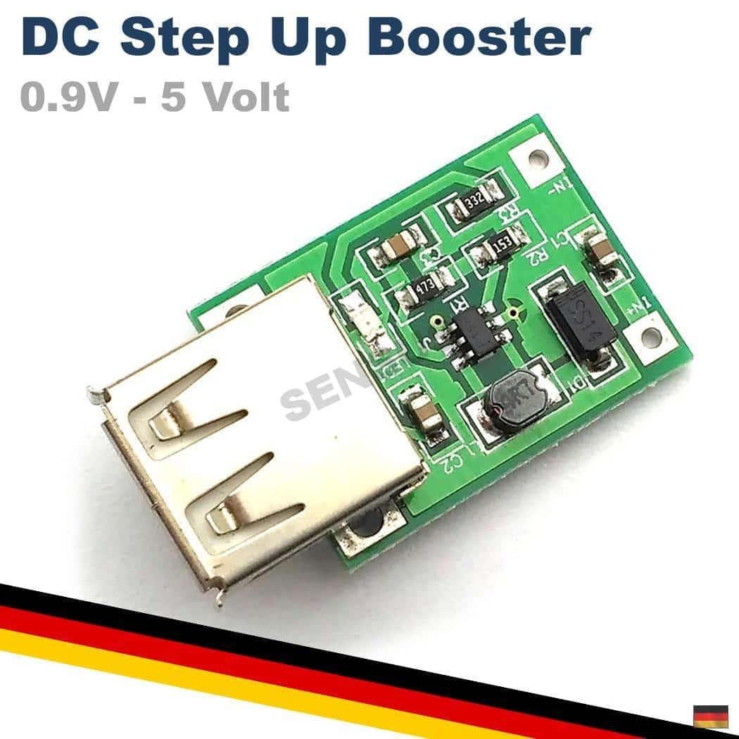 DC DC Wandler 5V 600mA Step Up Boost Spannungswandler Modul 0.9V 5V auf 5V