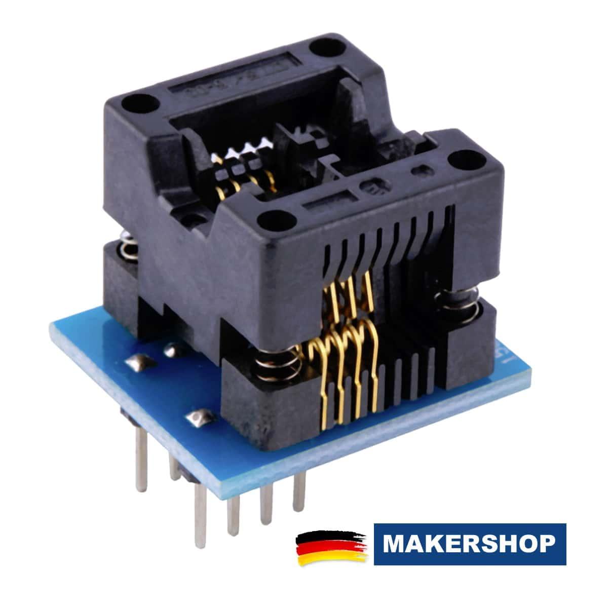 SMD SO8 SOP8 SOIC8 DIP8 2,54mm DIP8 Programmier Adapter SMD-Sockel 150mil