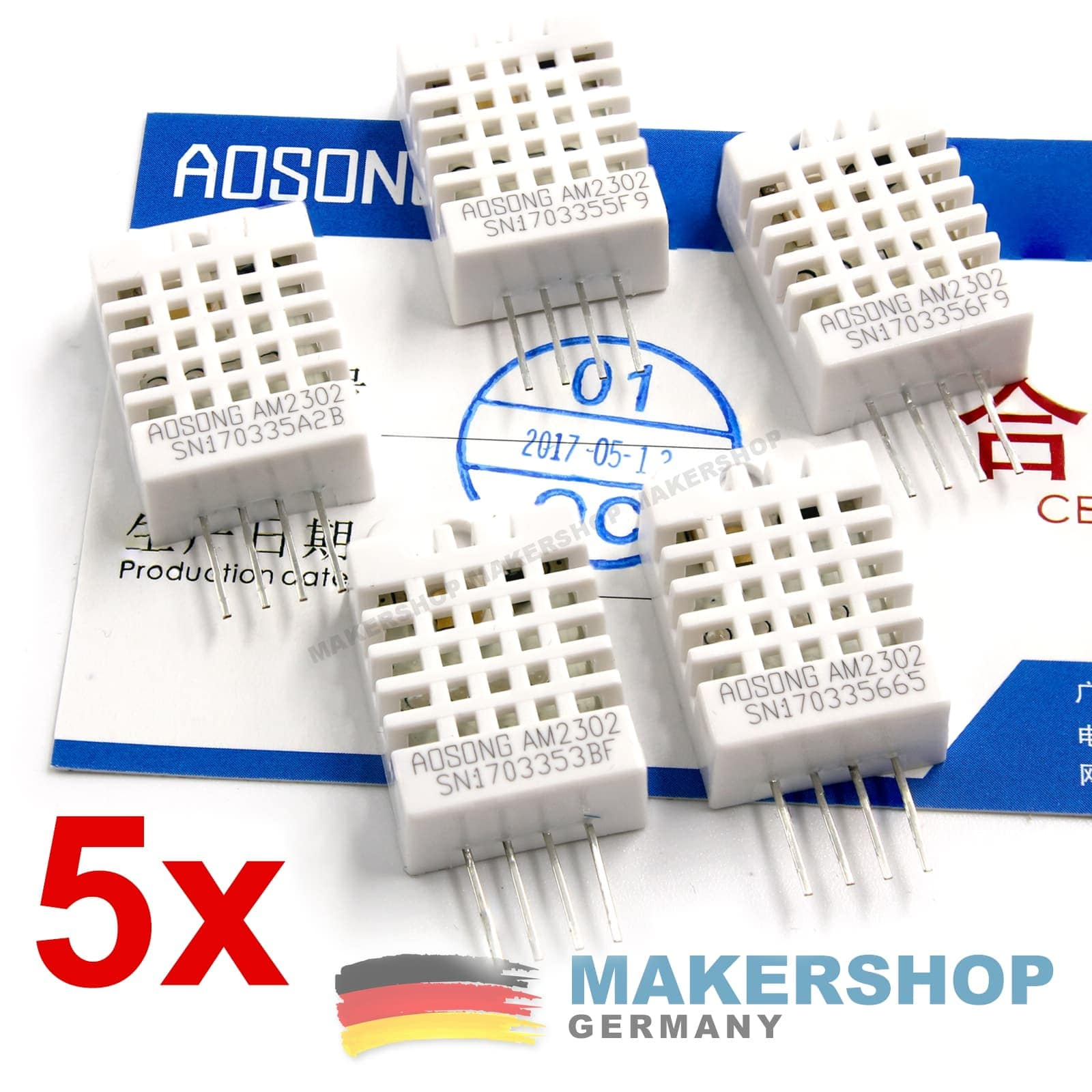 DHT22 Digitaler Temperatur und Luftfeuchtesensor Raspberry Pi Arduino Sensor