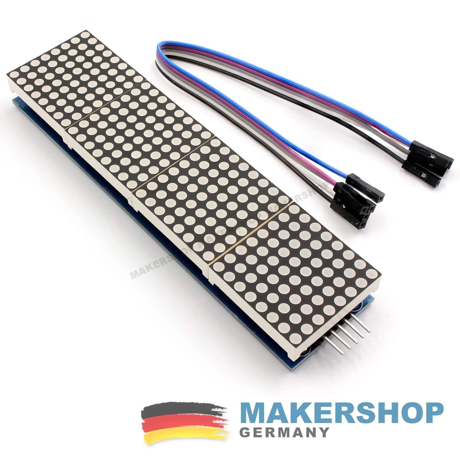 dot matrix modul 8x8 display arduino 4 matrix max7219 led. Black Bedroom Furniture Sets. Home Design Ideas