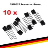 10x DS18B20 Digitaler Temperaturfühler Temperatursensor 1-wire Raspberry Arduino