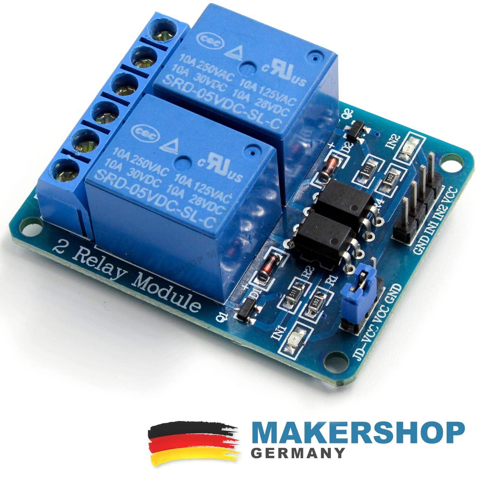 2 Channel Relay Module Arduino Raspberry Pi Relay Card 5v