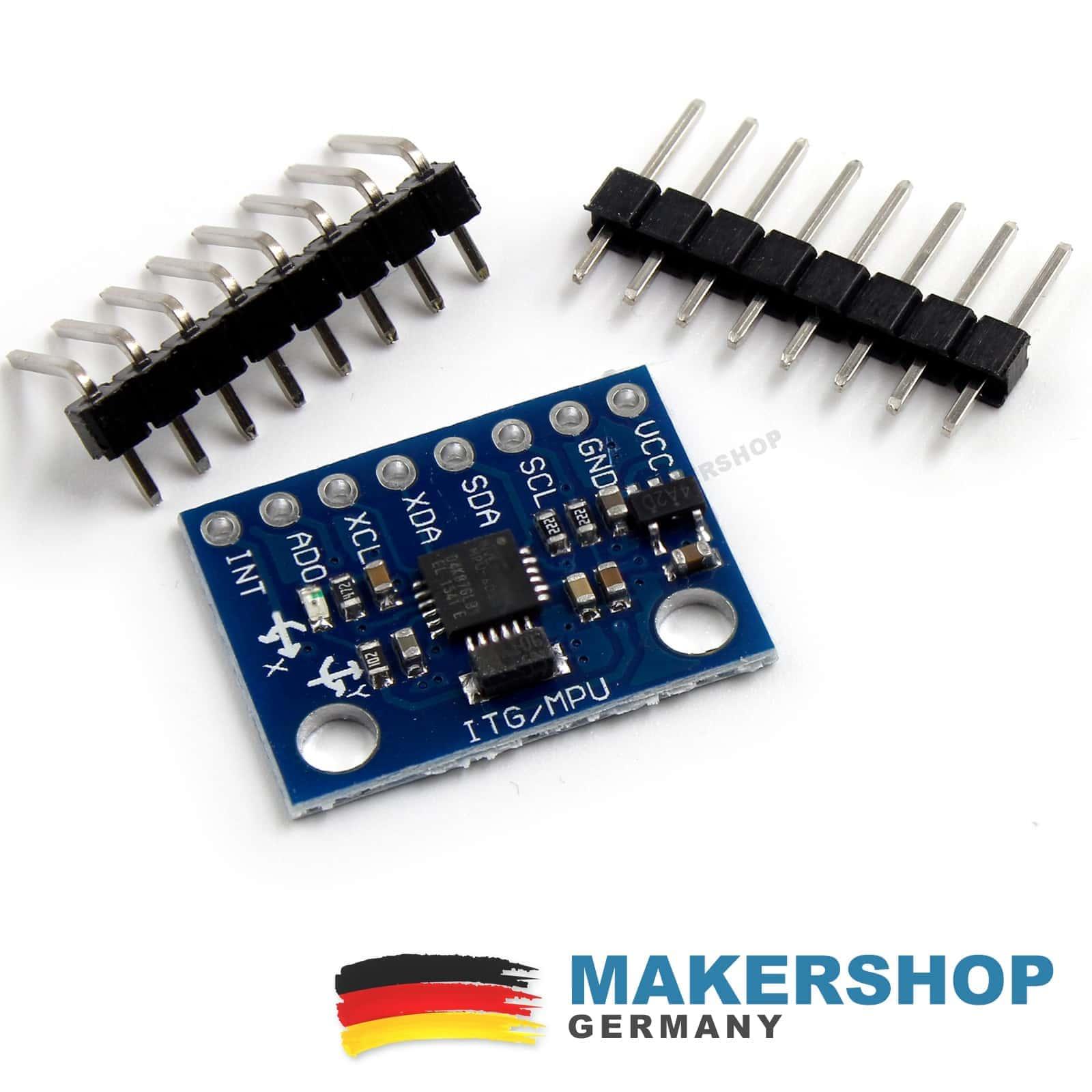 2x GY-521 3-Achsen Gyroskop Sensor Beschleunigungssensor Arduino gy521 Pi MPU...