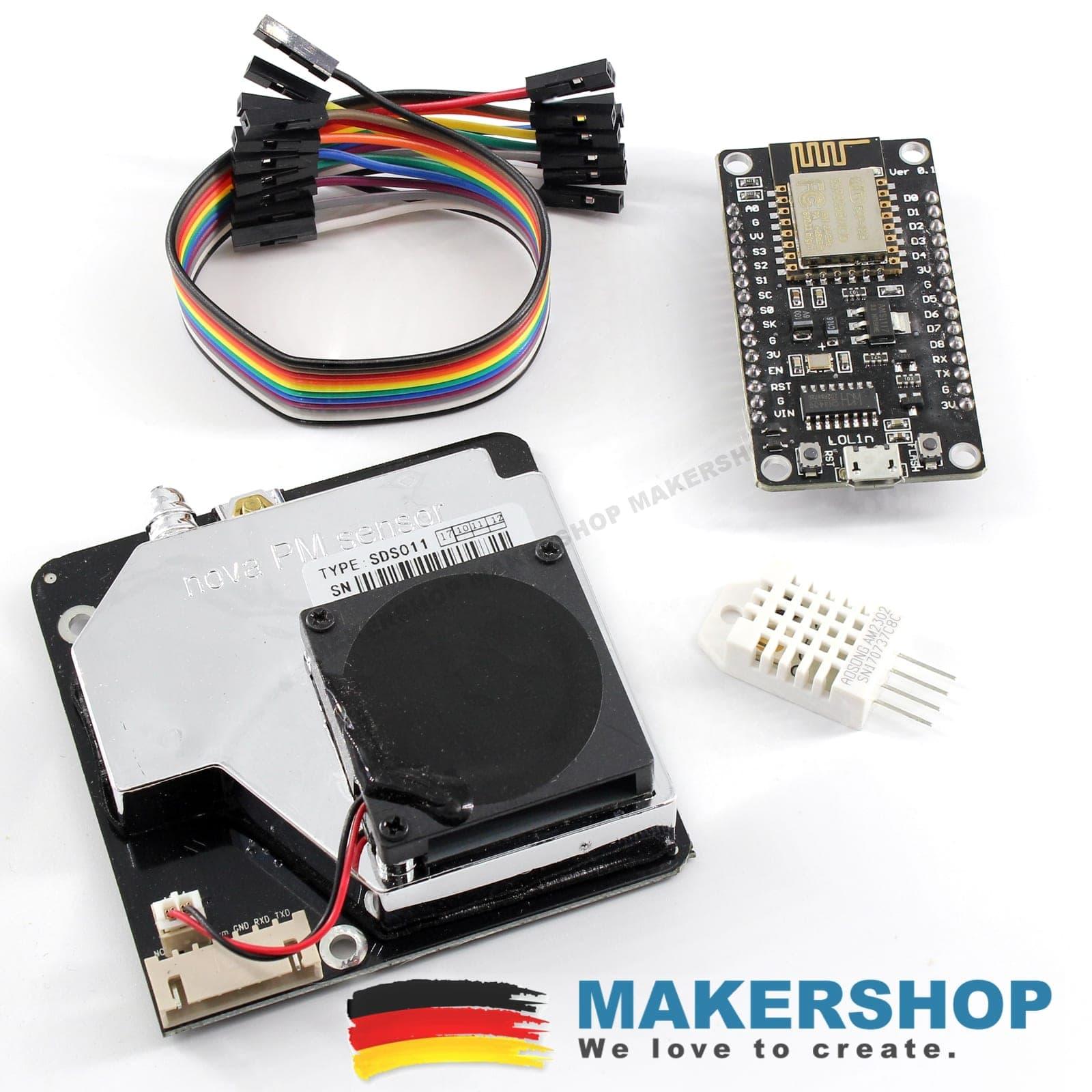 feinstaub sensor selber bauen kit sds011 dust nova fitness nodemcu luftdaten makershop de. Black Bedroom Furniture Sets. Home Design Ideas