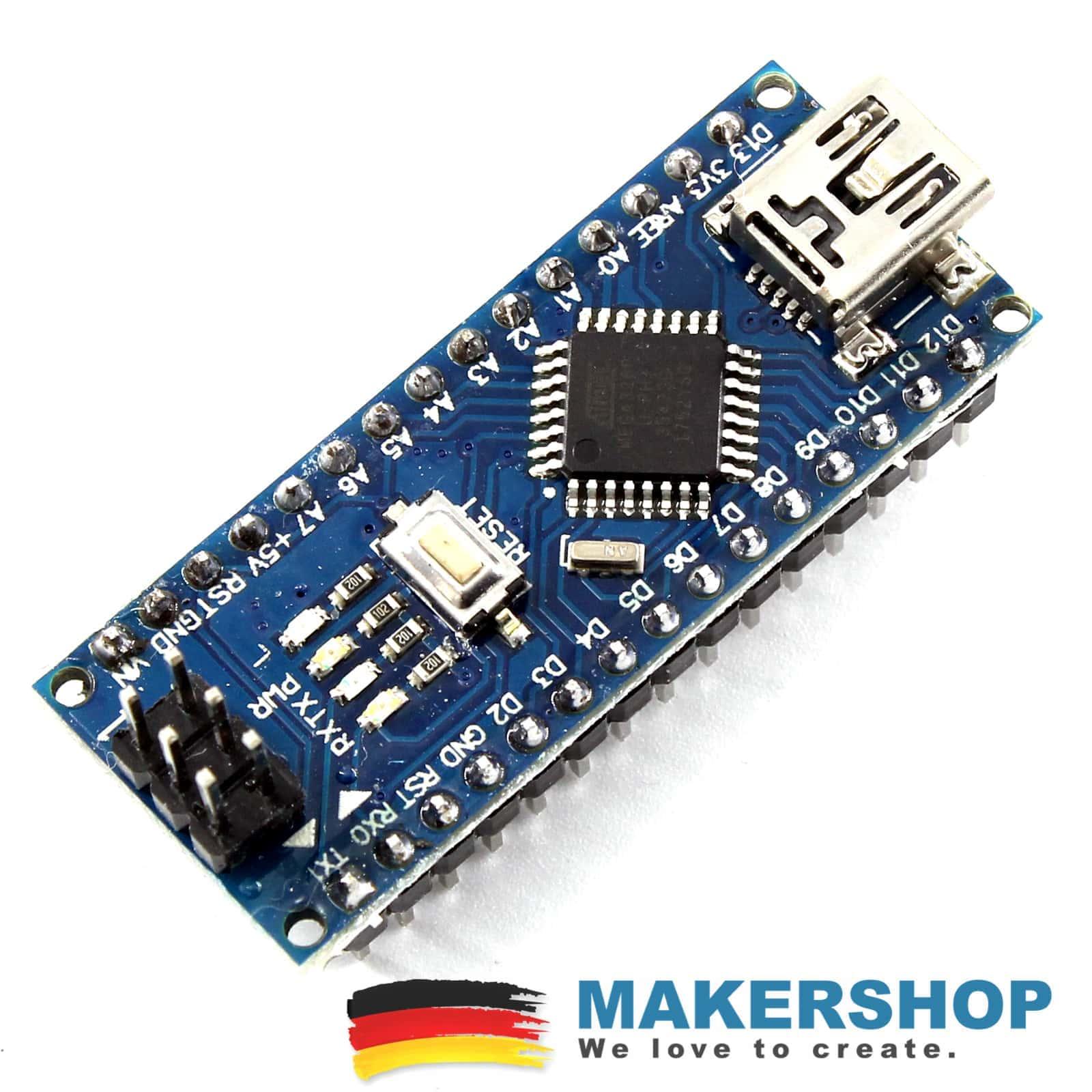 Unterhaltungselektronik Nano Ch340 Atmega328p Microusb Pins Gelötet Nano V3.0