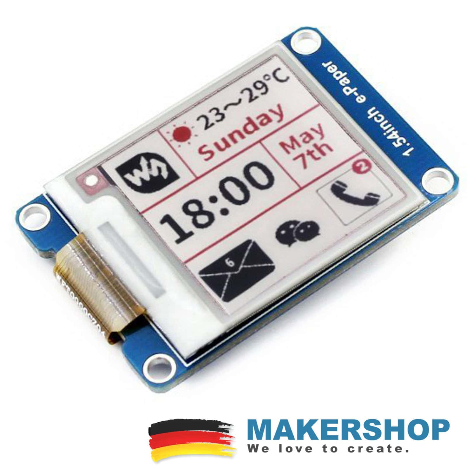 Waveshare E-Ink 1.5 Zoll