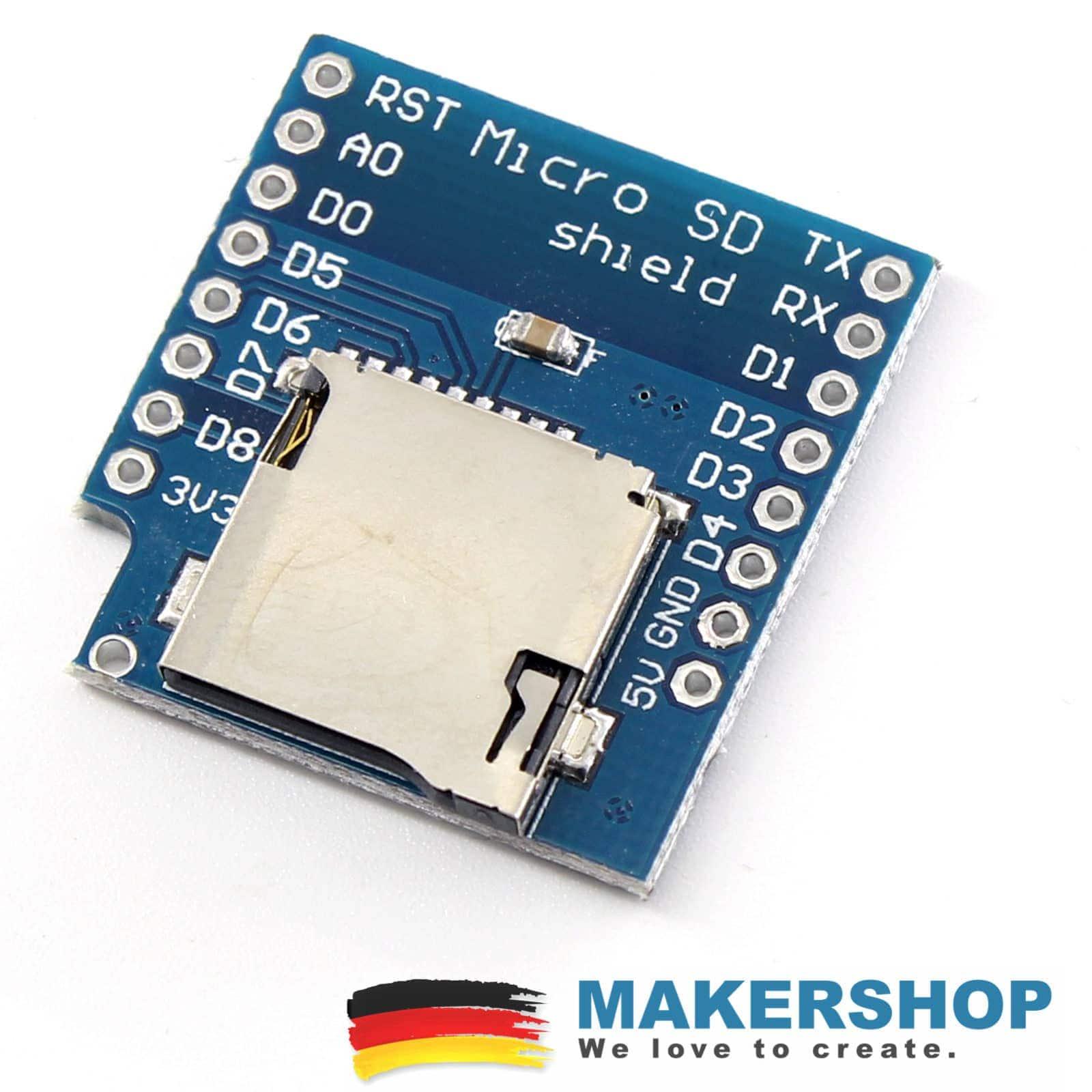Micro SD D1 Mini Wemos Slot