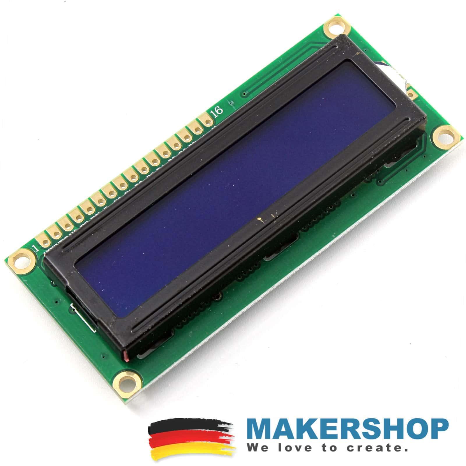LCD1602 in blau