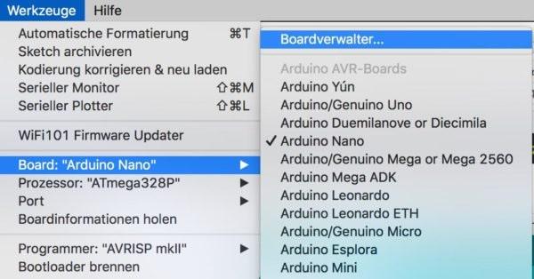 Boardverwalter URL NodeMCU