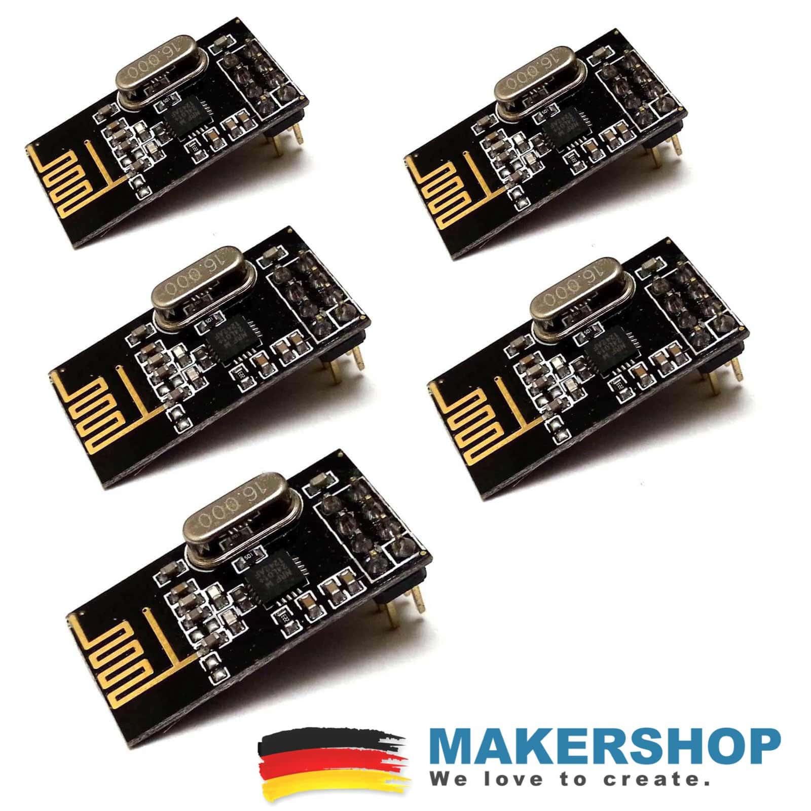 2,4 GHz Funkmodul Transceiver Sender Empfänger Arduino Raspberry Pi 5x NRF24L01
