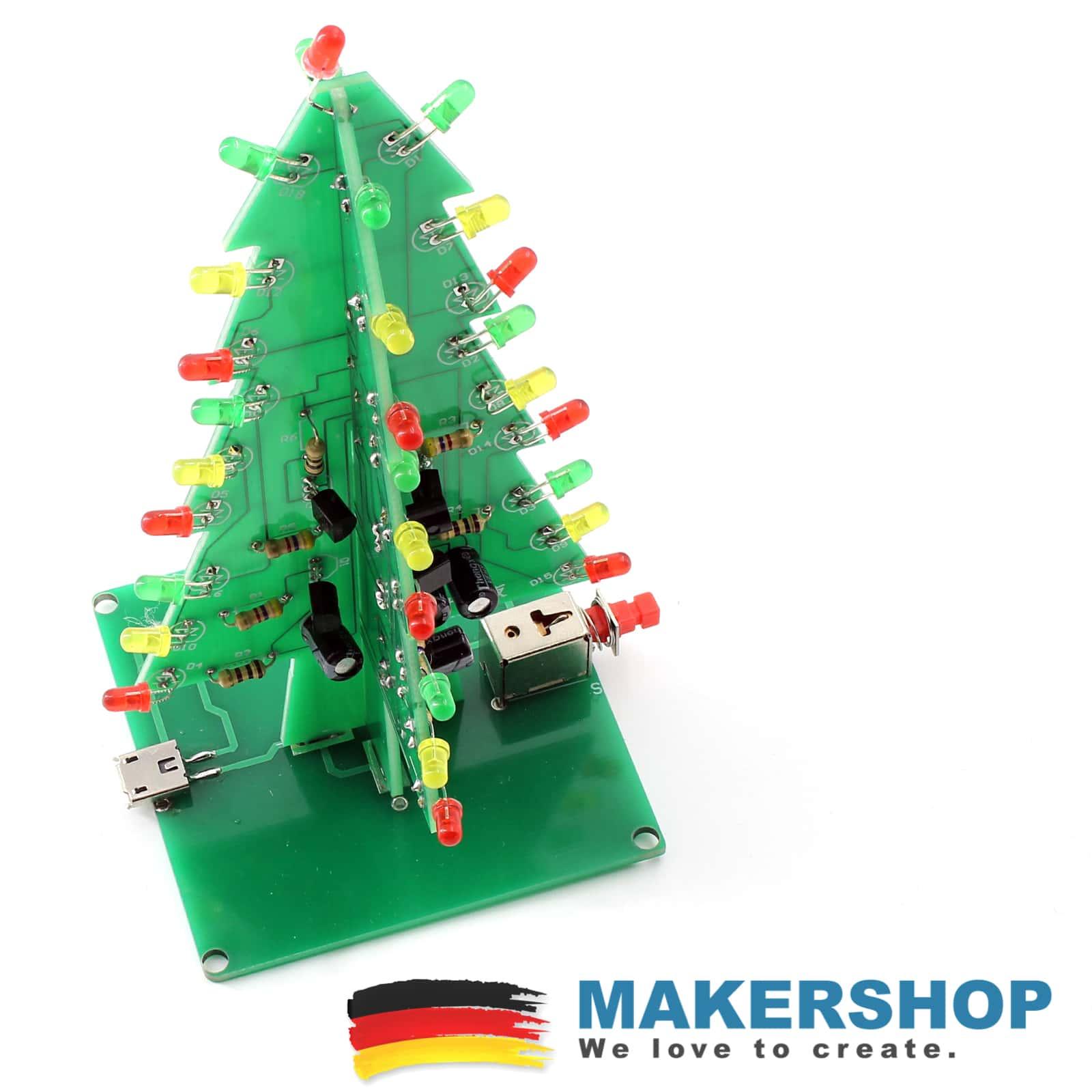 3D Led Weihnachtsbaum USB Bausatz blinkender XMAS Tree für Nerds ...