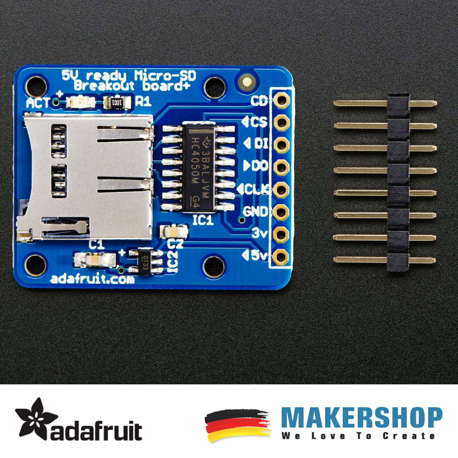 QITA MicroSD Breakout Board für SD//TF Karte für Arduino 3,3V 6Pin CP09009