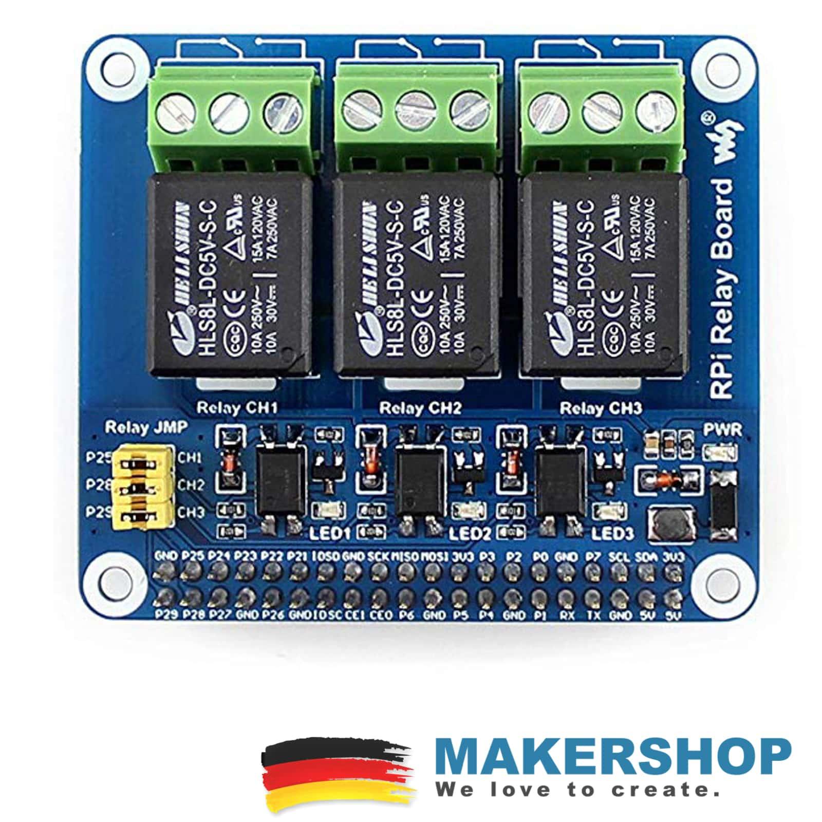 2pcs 1-Kanal Relais Modul 5 V 230 V LED Relay f/ür z.B Arduino Raspberry Pi